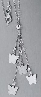 Y - Silberkette 925 Kette Silber mit Schmetterling - Collier mit Schmetterlingen