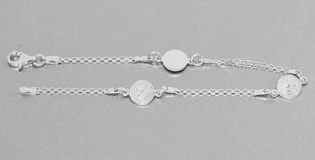 Schutzengel Armband Silber 925 Armkette Engel Silberarmband Angel Sterlingsilber