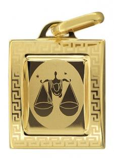 Sternzeichen Waage Gold 585 Anhänger 14 Karat Kettenanhänger Gelbgold