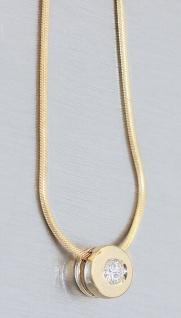 Colitär Gold 585 Brillant Schlangenkette massiv Karabiner Goldkette Collier
