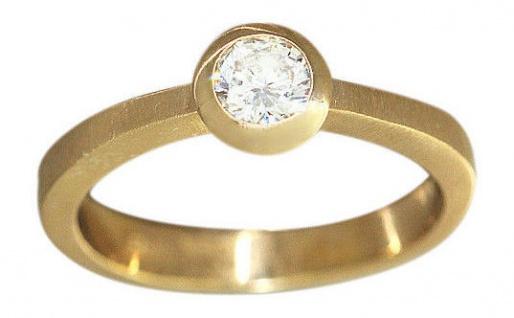 Brillantring Solitärring Ring Gold 585 Goldring 0, 17 ct Diamantring Damenring - Vorschau 3