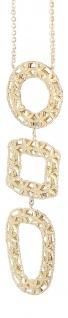 Collier Gold 750 Goldkette mit Design Anhänger Halskette 18 Karat Gelbgold 7, 4gr