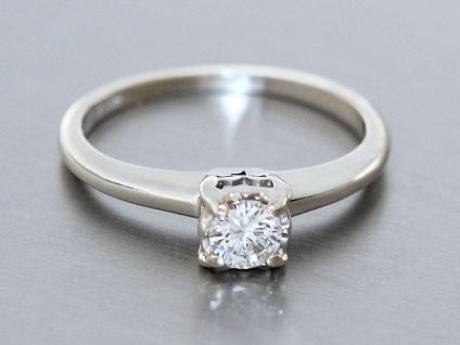 Brillantring 0, 25 ct Weißgold 585 Solitärring Weißgoldring Damenring Ring Gold - Vorschau 2