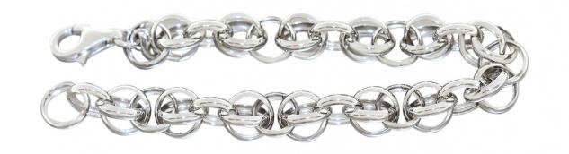 21 cm langes Silberarmband 925 Armband Silber rhodiniert Gliederarmband 12, 6gr