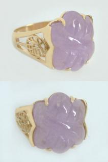 Wunderschöner Jadering Goldring 585 mit echter Jade Ring Gold Damenring