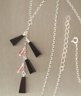 Collier Silber 925 mit Bernsteinen Y Silberkette - Halskette - langer Mittelteil