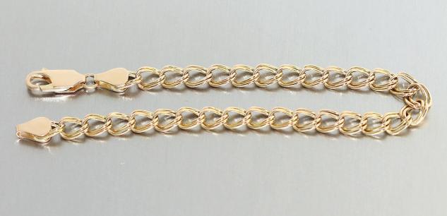 Armband Gold 585 - Goldarmband - 19cm lang - Armband in 14 Kt Gold Armkette