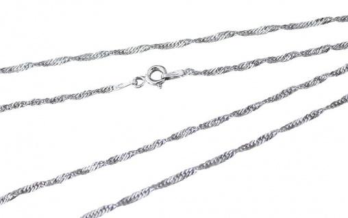 45 cm Singapurkette Silber 925 Silberkette geschliffen 1, 9 mm Halskette massiv
