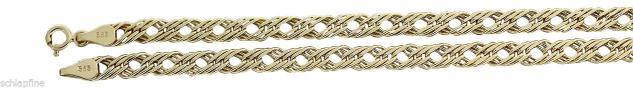 45 oder 50 cm breite Goldkette 585 Collier Halskette funkelnde Kette Gold 14 k