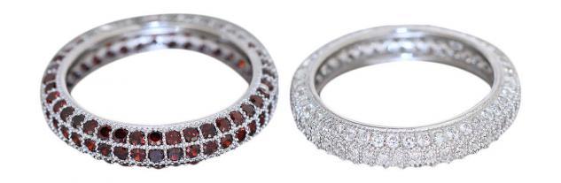 Memoryring Silber 925 Ring m Zirkonia in Rot od Weiß Silber Silberring Damenring