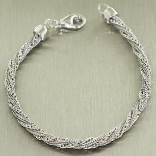 Super Armband Silber 925 edles Silberarmband rund Armkette Sterlingsilber
