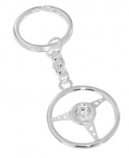 Schlüsselanhänger Lenkrad Silber 925 massiv Schlüsselring Anhänger 11 gr. schwer
