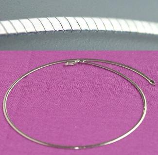 Omega Halsreif Silber 925 Collier 42 45 50 cm flach 2, 6 mm breit Silberkette