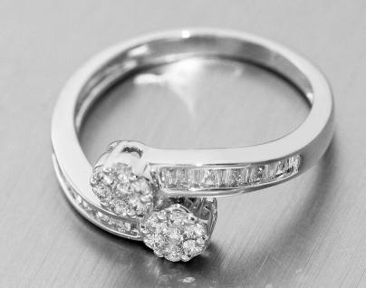 Eleganter wertvoller Ring Weißgold 750 Brillantring 0, 52 ct. Weißgoldring Gold - Vorschau 4