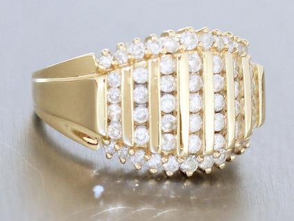 Goldring 585 mit 1, 4 ct. Brillanten - Ring Gold - Brillantring - Damenring 14 kt