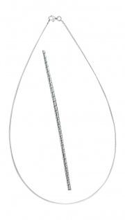 Feiner Halsreif Silber 925 geschliffen flexible Silberkette Collier 42 / 45 cm