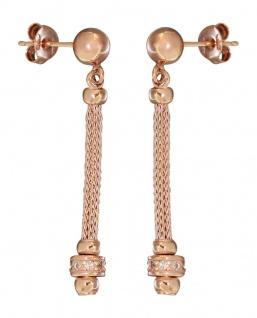 Designer Ohrhänger Silber 925 Rotgold lange Ohrhänger tolles Design Rosegold