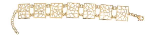 Breites Designer Armband Silber 925 Gold diamantiert Silberarmband vergoldet