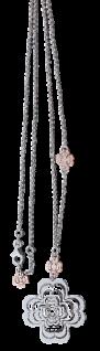 Große Blume Silberkette 925 und Anhänger 60 cm Kette mit Silberblume Collier