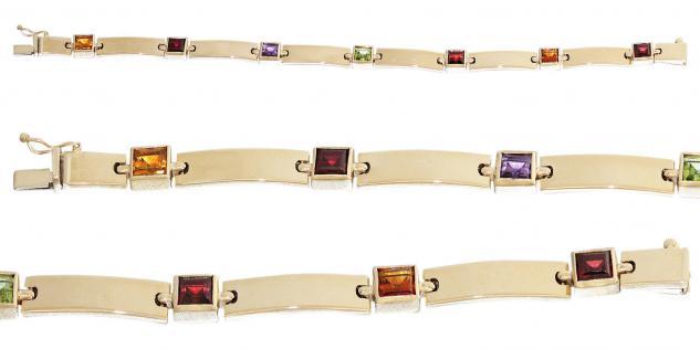 Armband Gold 585 Edelstein multicolor Goldarmband 14, 2 gr Gelbgold 14 Karat