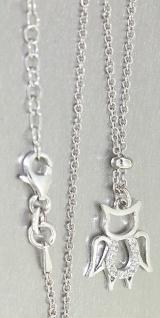 Massive Silberkette 925 mit Anhänger Engel oder Teufelchen Kette Silber Collier