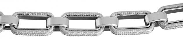 21 cm Armband Weißgold 750 / 18 Kt Armkette Weißgoldarmband große Glieder 18 gr.