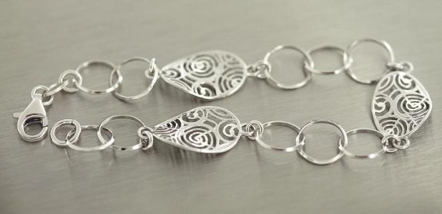 Silberarmband 925 massiv - große Glieder - Armband Silber Armkette Gliederkette