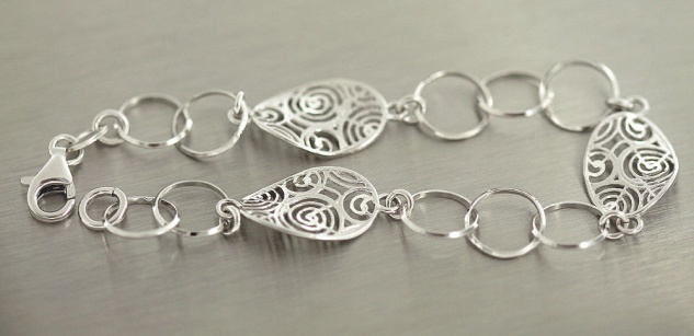 Silberarmband 925 massiv große Glieder Armband Silber Armkette Gliederkette