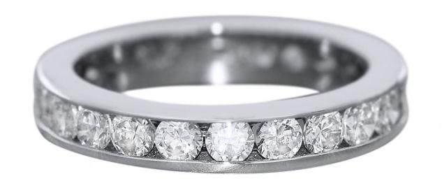 Ring Weißgold 585 mit Zirkonias Memoryring Gold Weißgoldring 14 kt Eternity Ring