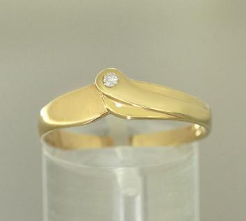 Brillantring Gold 585 Damenring Brillant edler Goldring 14 kt Ring Gold RW 64