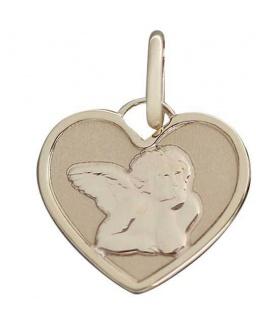 Schutzengel Anhänger Herz Gelbgold oder Weißgold 585 Goldanhänger Engel Herz - Vorschau 2