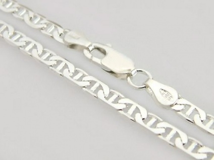 Breite massive Silberkette 925 Halskette 50 cm Kette Silber Collier Karabiner