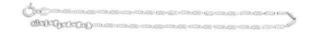 Massives Fußkettchen Sterlingsilber 925 rhodiniert Fässchenkette Silberkette