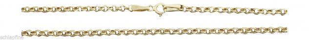 55 cm funkelnde Erbskette - Kette Gold 585 - Halskette Goldkette 14 kt - Collier