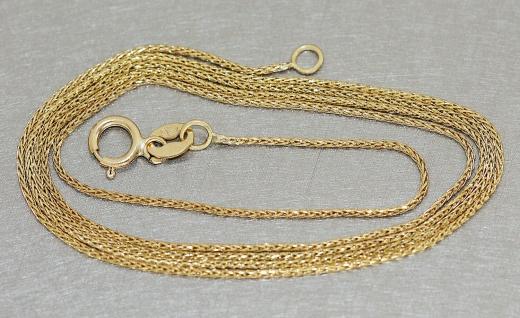 Goldkette 333 Zopfkette geschmeidige Kette echt Gold feine Halskette 45 cm