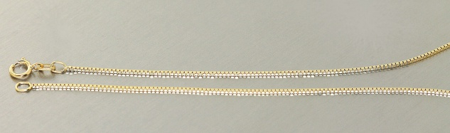 Venezianerkette Gold 333 massiv feine Halskette 8 Karat Gelbgold