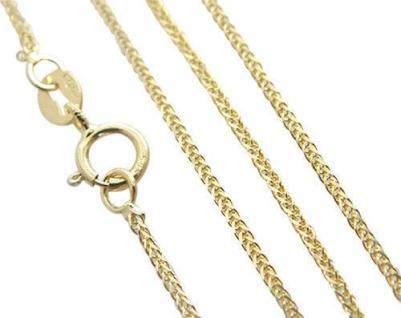 Goldkette 333 Gold 8 Karat geschmeidige Halskette Zopfkette Kette 50 cm