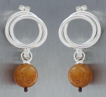 Ohrstecker Silber 925 mit Kugeln Ohrhänger Silberohrringe edler Ohrschmuck