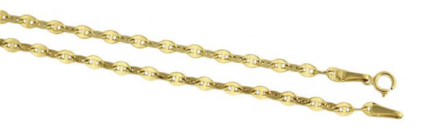55 cm Goldkette 585 - super Kette Gold - funkelnde Halskette dekoratives Collier