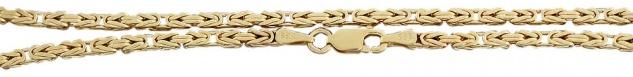45 cm Königskette - Goldkette 585 Halskette Byzantiner Kette Gold tolles Collier