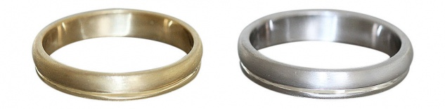 Ring Gold 585 Ehering Gelbgold od Weißgold massiver Bandring 14 Karat Trauring