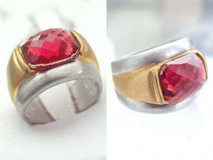 Topmodischer Ring Silber 925 massiv schwerer Silberring breiter Damenring Gold