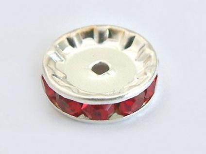 10 Stk. rote Dekorteile für Perlen oder Kugelketten