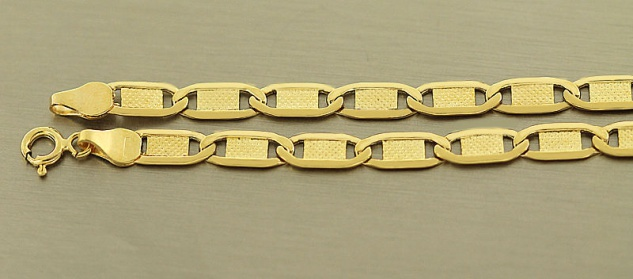 20 cm Goldarmband 585 flaches Armband Gold 14 kt Armkette Dekorglieder
