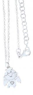 Schutzengel Anhänger Silber 925 mit Kette Engel mit Herz Silberkette m Engelchen