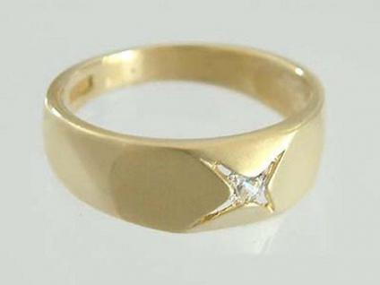 Sehr schöner Goldring 585 - Ring Gold 14 kt - Solitärring Damenring mit Solitär
