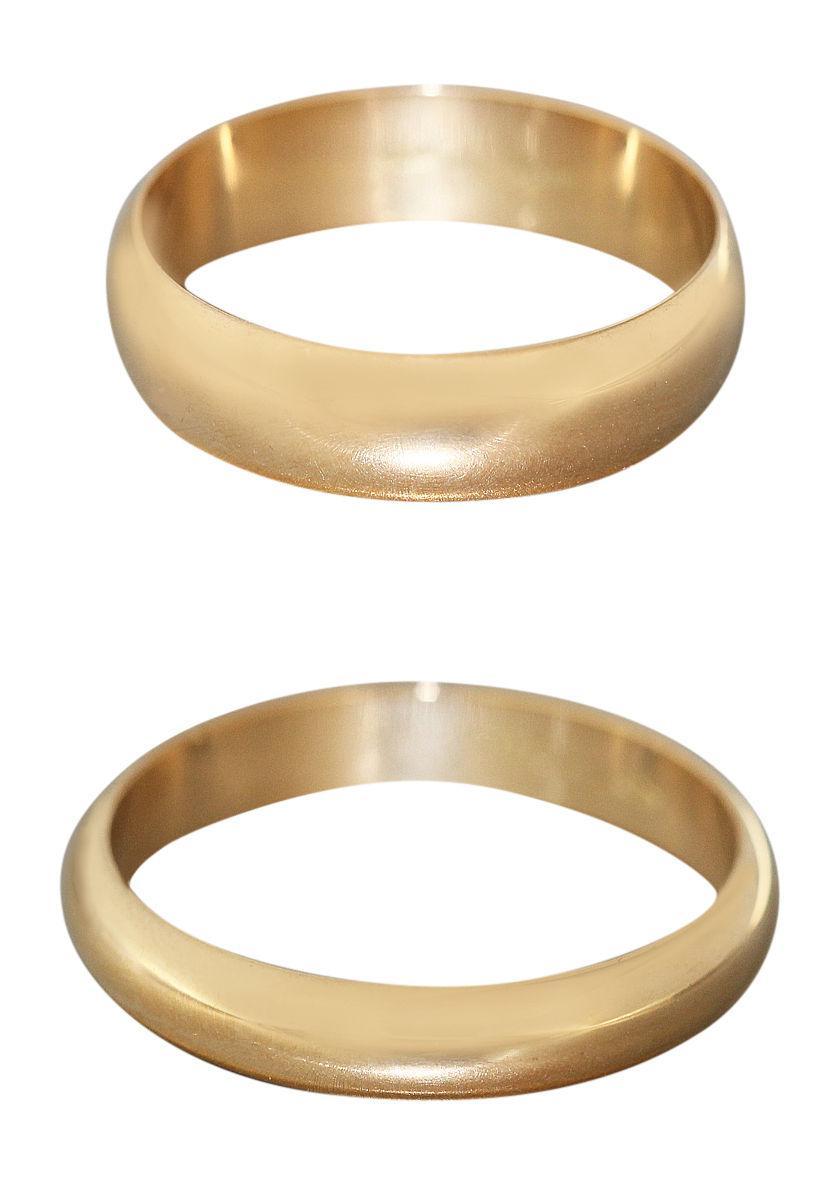 Goldring schmal  Massiver Ehering Gold 750 schmal od breit Goldring Trauring ...