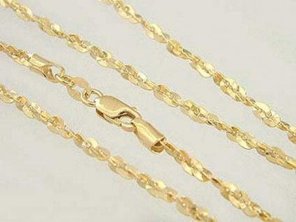 45 cm - funkelnde Goldkette 585 / 14 Karabiner - Kette Gold Halskette Collier