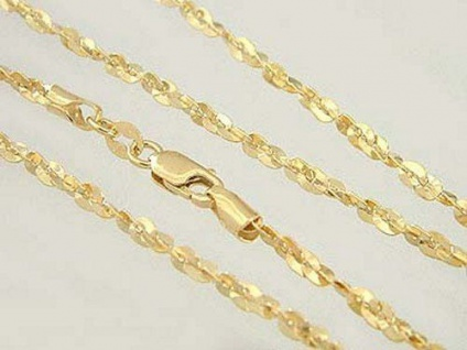 50 cm - funkelnde Goldkette 585 mit Karabiner - Kette Gold - Halskette - Collier
