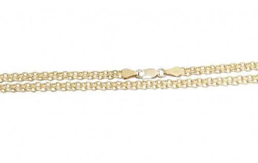 45 cm breite Goldkette 585 - Collier - Kette Gold - Halskette - Goldcollier 14kt